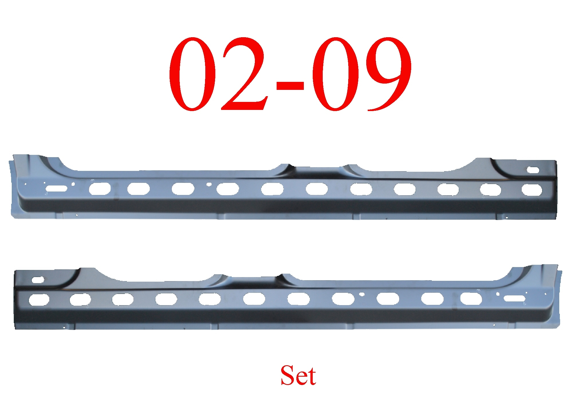 02 09 Dodge Quad Cab Inner Rocker Panel Set